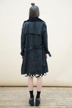Oversized Classic Trench Coat Black