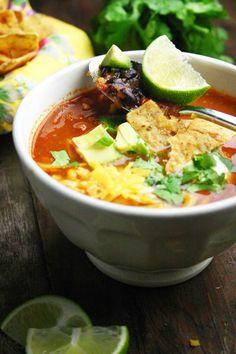 Mexicaanse tortilla soep