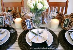 table settings for dinner - Pesquisa Google