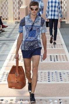 SPRING 2014 MENSWEAR Louis Vuitton. Ugh - no self respecting man I know ...