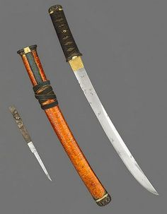 Japanese Short sword and knife set. 16th century