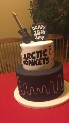 The world's coolest birthday cake. Monkey Birthday Cakes, Pretty Birthday Cakes, Pretty Cakes, Alex Arctic Monkeys, Bolo Harry Potter, Monkey 3, Alex Turner, Birthday Cake Decorating, Sweet Treats