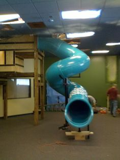 Grow Room Design, Lofted Dorm Beds, Hotel Games, House Slide, Indoor Slides, Playground Slide, Toy Rooms, Room Doors, Cool House Designs