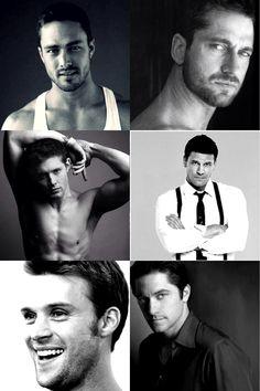 the sexiest men alive!! supernatural ( dean Winchester) bones ( Seeley booth ) Gerard butler Chicago fire ( lt. Matt casey and lt. Kelley severide) ghost whisperer ( Jim Clancy)