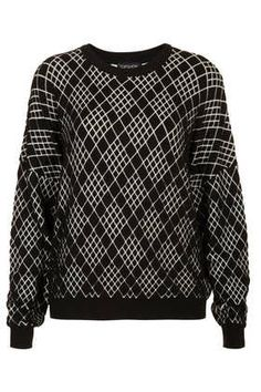 Knitted Monochrome Quilt Sweat from Topshop - loving this