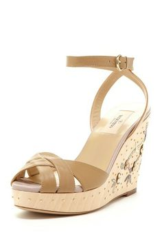 Valentino Floral Wedge Sandal by We Love Wedges on @HauteLook