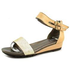 becc96beca80 Easy Spirit Martelly Women US 8.5 Nude Gladiator Sandal Leather Wedge  Sandals
