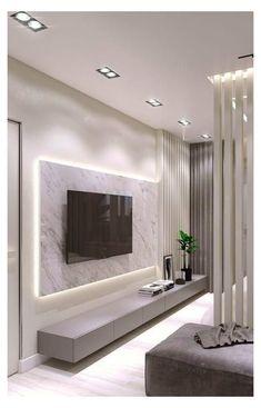 Living Room Tv Wall, Living Room Tv, Living Room Design Modern, Living Room Modern, Modern Room, Living Wall Decor, Modern Tv Room, Tv Room Design, Wall Decor Living Room Modern
