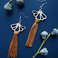 AURORA earrings are ostentatious, but extremely light statement earrings. A pair of earrings only weighs about 5 grams. Statement Earrings, Tassel Necklace, Drop Earrings, Laser Cut Jewelry, Sustainable Fashion, Aurora, Jewelry Collection, Summer Outfits, Bling