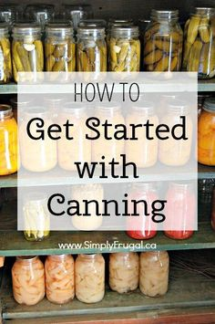 Canning should never be feared. If you follow the proper techniques and keep your equipment clean, you will provide your family with healthy, fresh produce for years to come. Here's how to get started with canning.