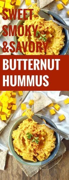 Sweet, Savory and Smoky Butternut Squash Hummus
