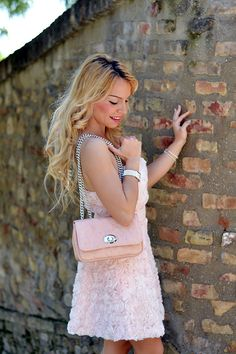 Pink roses dress, Loristella bag, high heels and Swarovski jewels <3 Today on my #fashionblog www.it-girl.it #fashion #itgirl #style #look #outfit #ootd #fashionista #lookoftheday #outfitoftheday