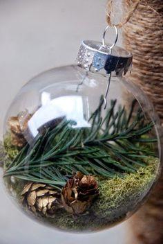 Lovely  DIY Ornaments Christmas Tree Decorating - Capturing nature's simple beauty.  #ChristmasTreeMarket #DIYornaments