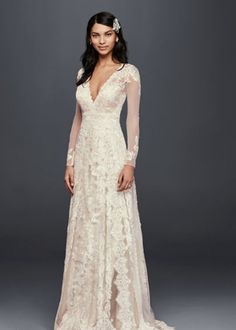 Wedding Dresses With Long Sleeves Under $5,000