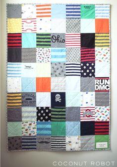 Op zoek naar een leuke DIY? Wat dacht je van een baby onesie quilt om zelf te maken? Lees hier de uitleg en bekijk de stap-voor-stap foto's.