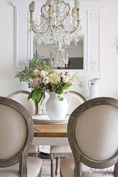 French Country Dining Room. Home tour of Shabbyfufu