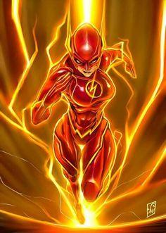 Jesse Quick as 'The Flash' of Earth Héros Dc Comics, Comics Anime, Flash Comics, Comics Girls, Marvel Vs, Marvel Heroes, Mundo Marvel, Comic Books Art, Comic Art