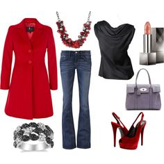 Pops of red for winter, I <3 polyvore