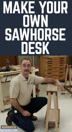 You probably already have sawhorses in the shop. How about adding them to your house? They make a very cool base for a desk. The joinery is elegantly simple.