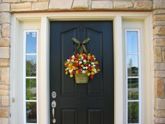 Spring Tulips - Farmhouse Tulips - Front Door Decor - Country French Home Decor. $85.00, via Etsy.