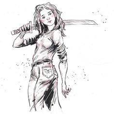 My wife @littleyellowflower Is the most beautiful woman I know. While I didn't capture her exactly (mostly in the face) I did catch the care and kindness she wields. The sword? She only carries that on Mondays. ;) #learningtodrawwomen  http://rndm.us/jms # # Drawn using @pentelofamerica @staedtlermars  # # #usa #drawordie #drawventure #drawdaily #artist #artistofinstagram #artistoninstagram #art  #mrjaymyers #pentel #pentelsecrets #modmypentel