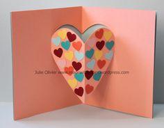 carte pop-up St-Valentin Valentine Cards For Boyfriend, Pop Up Valentine Cards, Pop Up Cards, Valentine Crafts, Valentine's Cards For Kids, Cards For Friends, Kids Pop, Mothers Day Crafts, Heart Cards