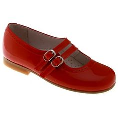Picture of Girls Red Mary Jane Shoes   Patent Leather Double Straps 2113 shoes red 2