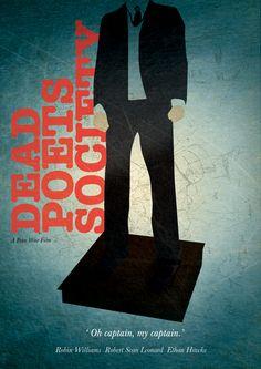 Dead Poet Society    Minimal Poster Designs. by Rishi Freeflow Bhardwaj, via Behance