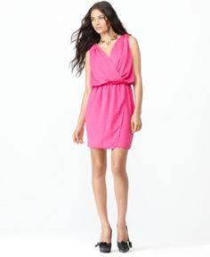 RACHEL Rachel Roy Dress, Magic Sleeveless Faux Wrap