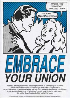 Anti-Employment Contracts Act poster, 1991