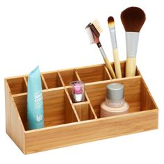 The Container Store > Bamboo Makeup Organizer