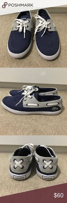 7b6a3fc712dde1 Lacoste Boat Shoes Women s Blue Lacoste boat shoes size 10. Worn once Lacoste  Shoes Flats