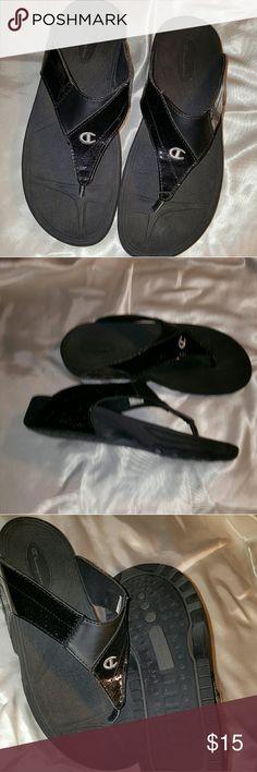Champion Black Sandal  size 8.5 M Champion Black flip flop style Sandal for summer fun size 8.5 M  Man made materials Champion Shoes Sandals