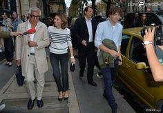 Sofia Coppola et son mari Thomas Mars lors du défilé Sonia Rykiel printemps-été 2015, sur le boulevard Saint-Germain. Paris, le 29 septembre 2014.