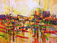 "Saatchi Art Artist Marta Zawadzka; Painting, ""In the city (SOLD)"" #art"