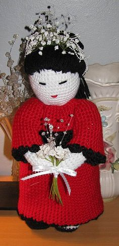Crocheted Geisha Doll by Armina Parnagian @Ravelry