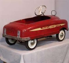 Fire Chief Pedal Car - I still have mine!