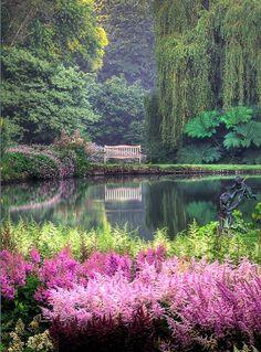 Вопрос 2. Прогулки в парке   Marwood Hill Gardens, Devon, England.
