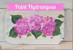 Learn to Paint Hydrangeas Fast and Easy in acrylics. A fun painting tutorial for beginners. Painting hydrangeas is a wonderful way to start painting flowers Basic Painting, One Stroke Painting, Painting Lessons, Tole Painting, Art Lessons, Painting & Drawing, Painting Tips, Painting Pictures, Watercolour Painting