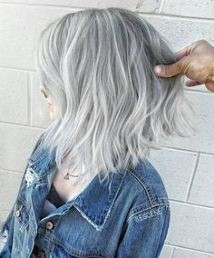 "9,836 Likes, 149 Comments - Linh PhanHAIRSTYLIST,COLORIST (@bescene) on Instagram: ""CHARCOAL & SILVER • Long Bob for @bonesspanekk Cut & Color by me . I using the NEW @schwarzkopfusa…"""