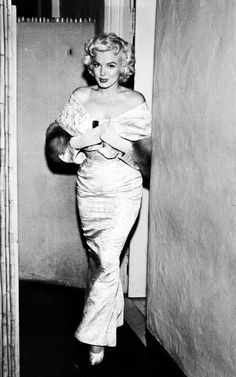 Marilyn Monroe at the East of Eden premiere, 1955.