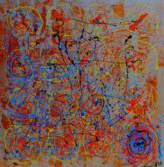 "Celestte ""Jackson Warhol"" Original Oil on Canvas 36 x 36"