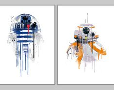 Star wars spaceships and robots alternative by goldenplanetprints