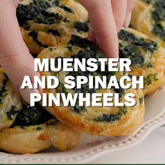 An easy, elegant appetizer made with storebought puff pastry, frozen spinach and. - - An easy, elegant appetizer made with storebought puff pastry, frozen spinach and. Frozen Appetizers, Puff Pastry Appetizers, Puff Pastry Recipes, Appetizer Recipes, Gourmet Appetizers, Party Recipes, Spinach Puff Pastry, Frozen Puff Pastry, Puff Pastry Pinwheels