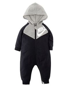 Keep him layered in warmth with this boys' Nike hooded zip coverall. Baby Boy Chevron, Baby Boy Nike, Boys Nike, Baby Boy Fashion, Toddler Fashion, Baby Boy Outfits, Kids Outfits, Newborn Outfits, Baby Jordan Shoes