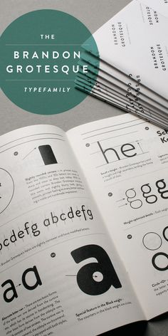 Brandon Grotesque (Typefamily) by HVD Fonts, via Behance
