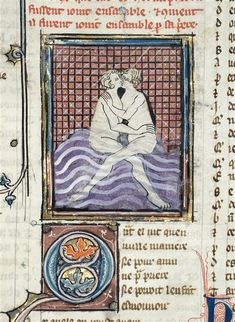 Union d'Hermaphrodite et de Salmacis Maître du roman de Fauvel (14e siècle)Paris, bibliothèque de l'Arsenal