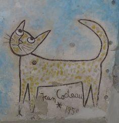 La Chapelle Saint Blaise desSimples | mural with gouache drawings,1959 | Jean Cocteau