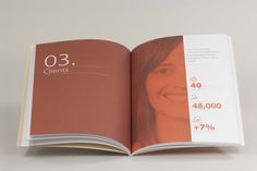 0418_memoria-sostenib-esteve_3 Brochure Design Inspiration, Layout Inspiration, Editorial Layout, Editorial Design, Contents Page Design, Cover Design, Design Design, Booklet Design, Magazine Layout Design