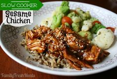 A healthier version of your favorite take-out dish that the kids will LOVE. Sesame Chicken